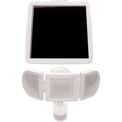 White Motion Activated Outdoor Solar Integrated LED Flood Light