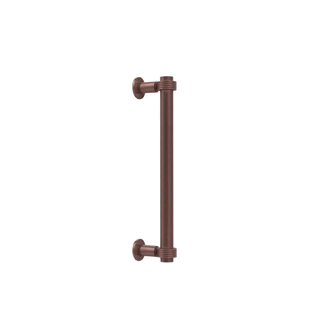 Contemporary 12 in. Back to Back Shower Door Pull with Grooved