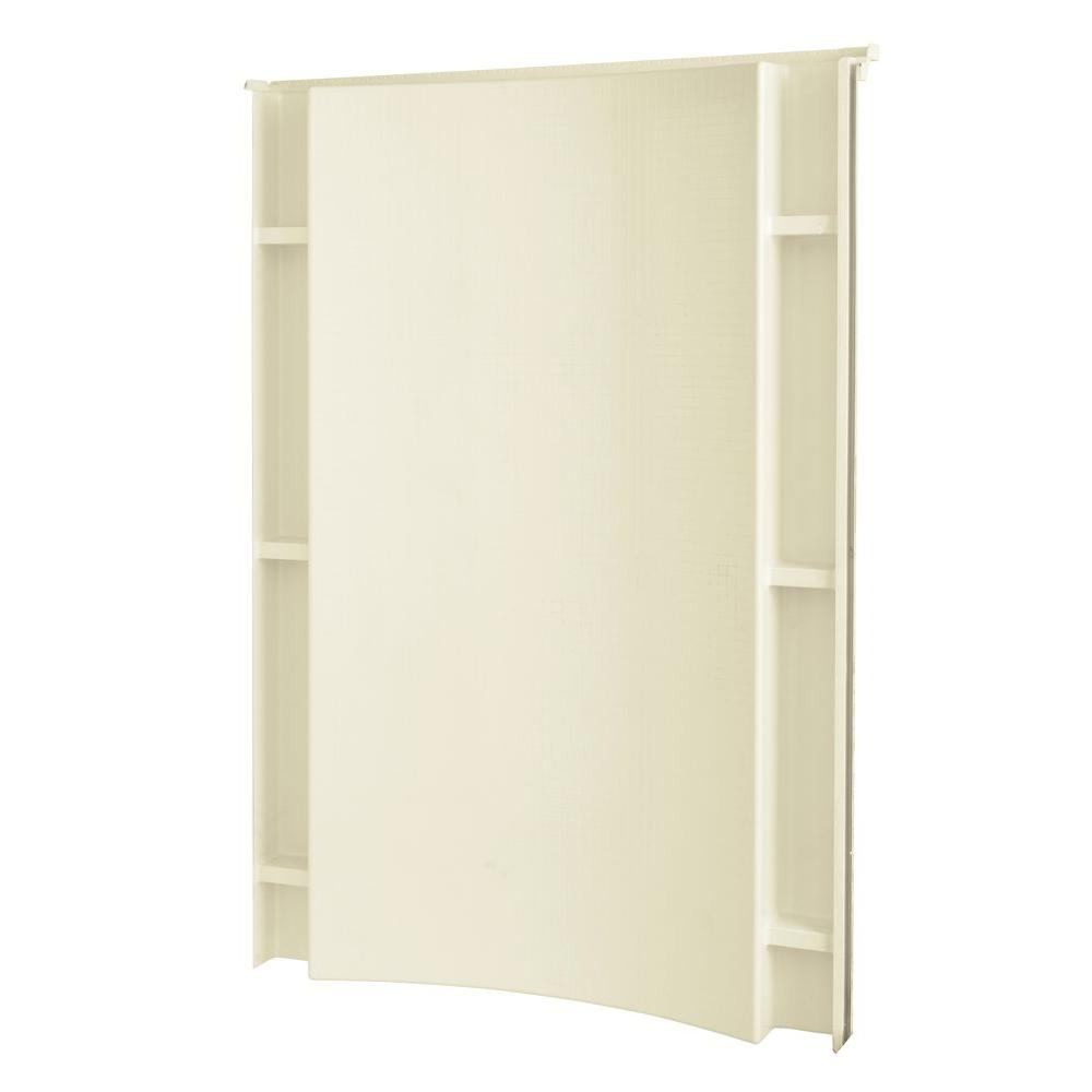 STERLING Accord 1-1/4 in. x 48 in. x 77 in. 1-piece Direct-to-Stud Shower Back Wall with Backers in Biscuit