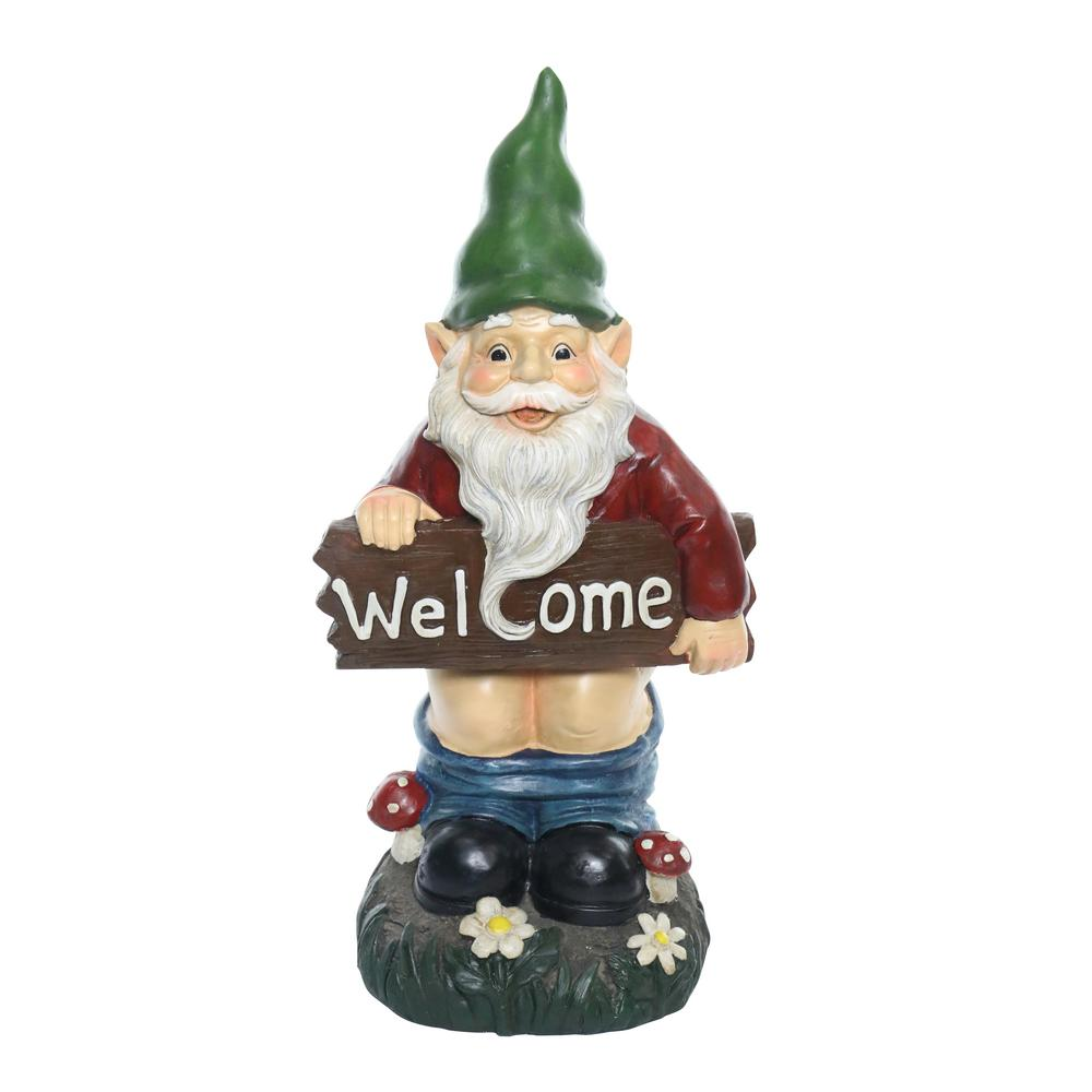 Alpine Mooning Welcome Gnome With Pants Down Statue Zen242