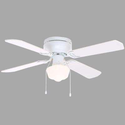 Littleton 42 in. Indoor White Ceiling Fan with Light Kit