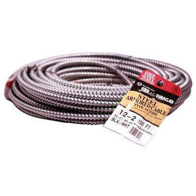 12/2 x 100 ft. Solid CU BX/AC (Duraclad) Armored Steel Cable