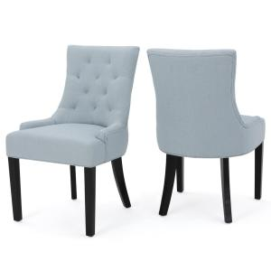 Hayden Light Sky Fabric Dining Chair (Set of 2)
