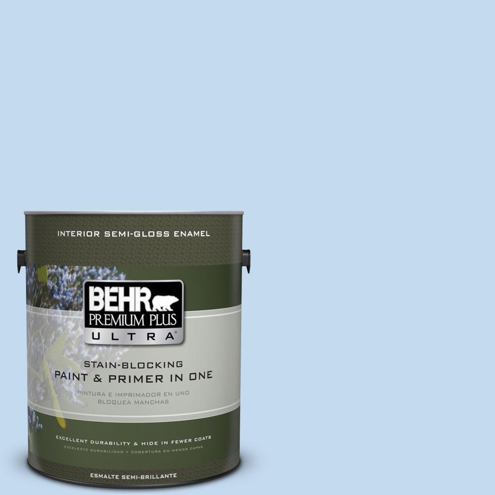 1-gal. #560A-2 Morning Breeze Semi-Gloss Enamel Interior Paint