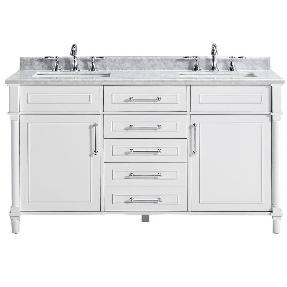 Home Decorators Collection Aberdeen 60 in. W Double Vanity ...