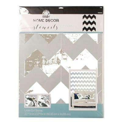 Home Decor Chevron Wall Stencil (21.5 in. x 17.5 in.)