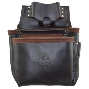 8-Pocket Oil Tanned Leather Framers Nail and Tools Pouch