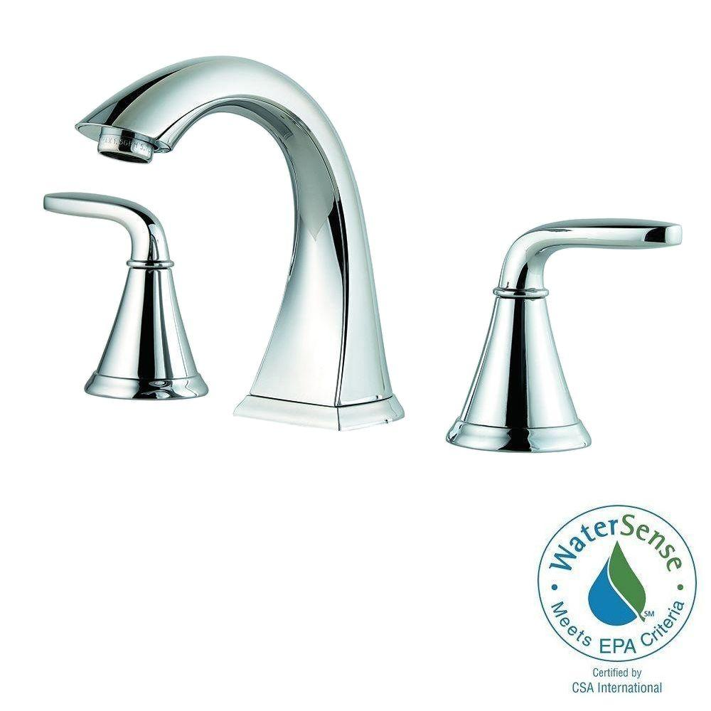 Pfister Pasadena 8 in. Widespread 2-Handle High-Arc Bathroom Faucet in Polished Chrome