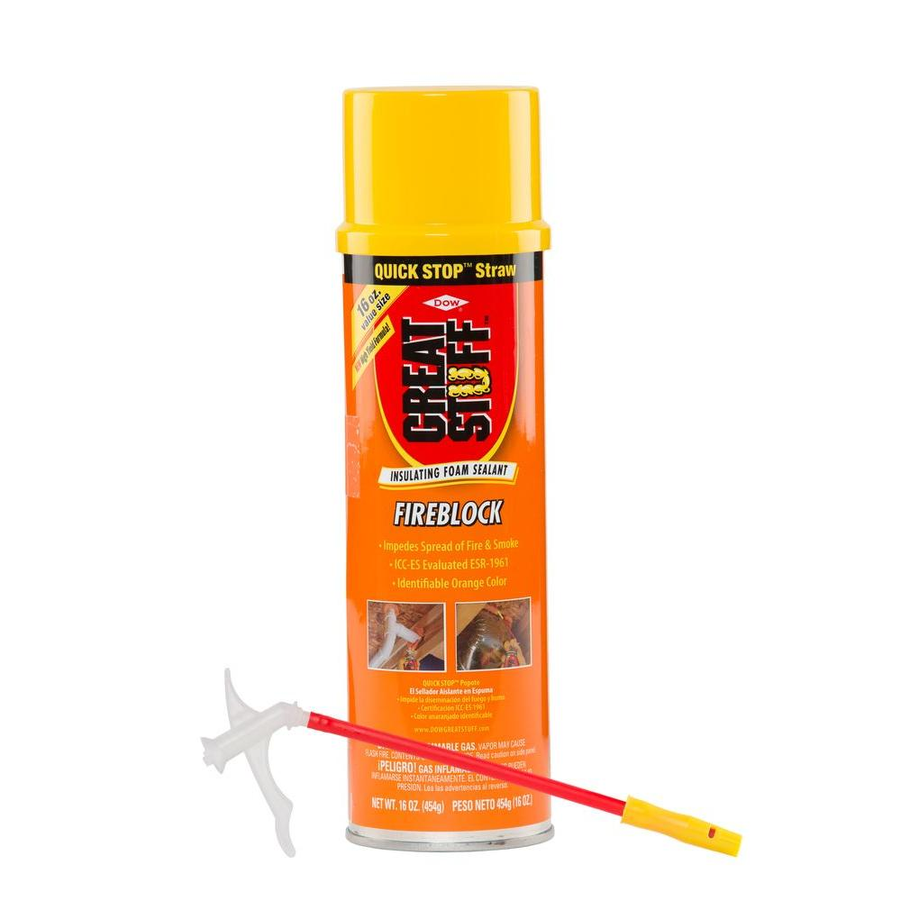 GREAT STUFF 16 oz. Fireblock Insulating Foam Sealant with Quick Stop Straw