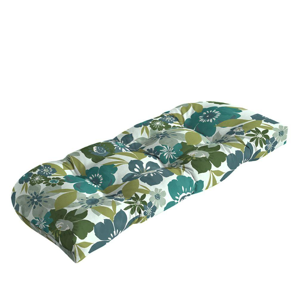 Hampton Bay Garden Grove Tufted Outdoor Bench Cushion