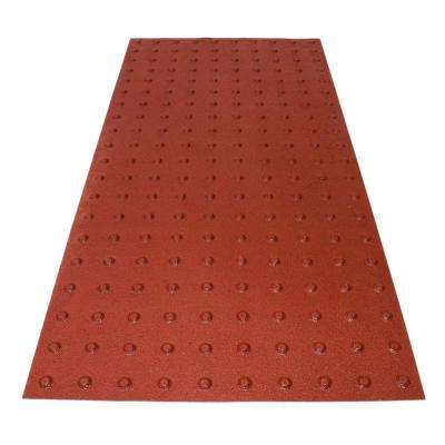 RampUp 24 in. x 4 ft. Colonial Red ADA Warning Detectable Tile
