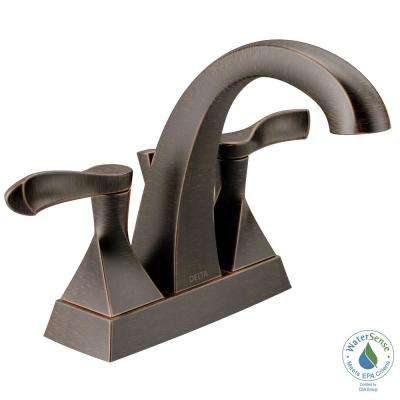 Everly 4 in. Centerset 2-Handle Bathroom Faucet in SpotShield Venetian Bronze