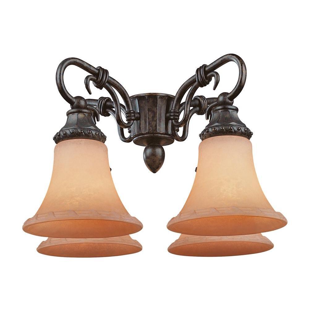 Illumine Satin 4-Light Ceiling Fan Light Kit