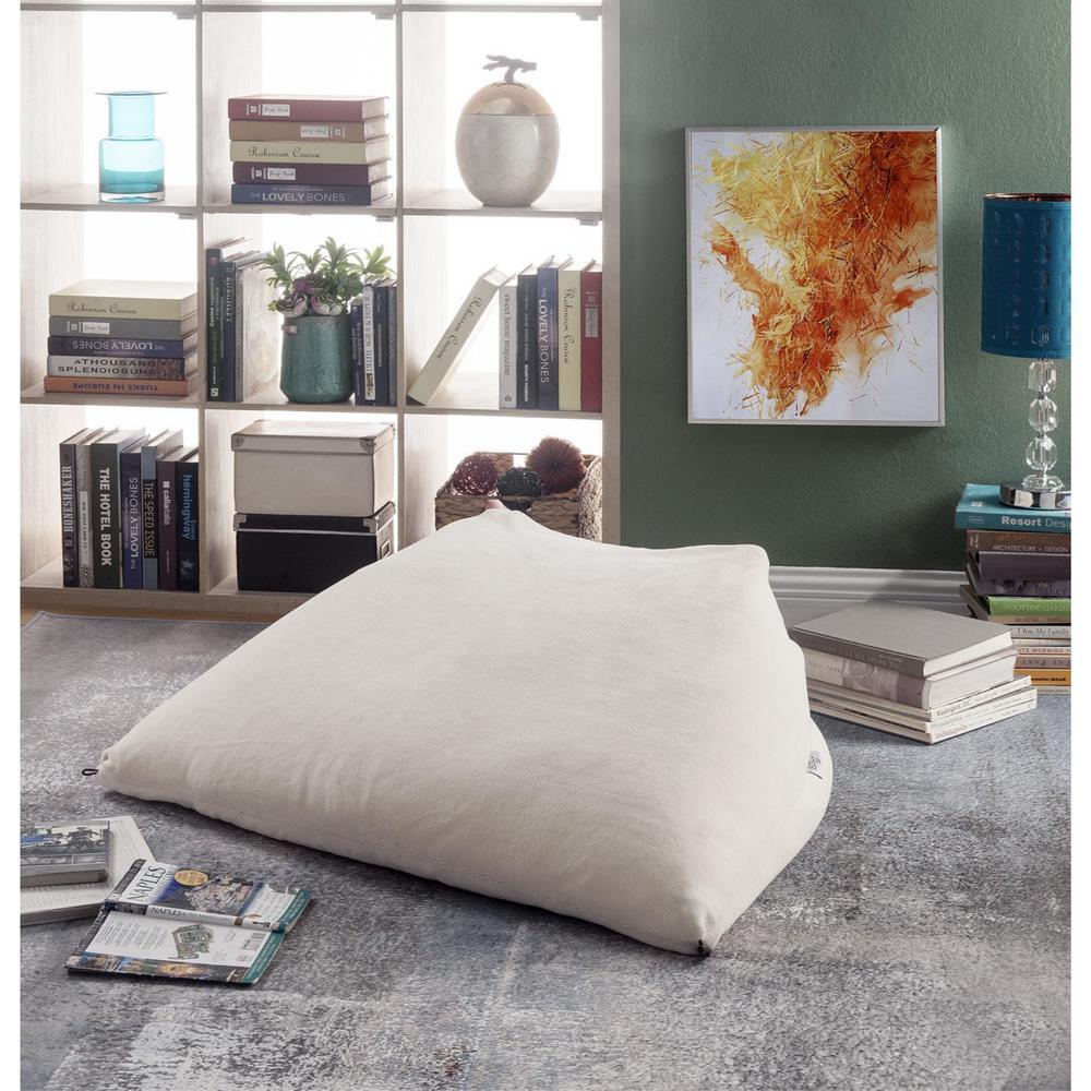 Fantastic Loungie Magic Pouf Beige Microplush Bean Bag Chair Pdpeps Interior Chair Design Pdpepsorg