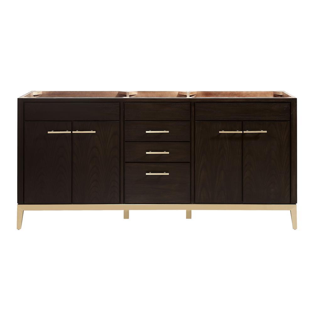 Hepburn 72 in. W x 21.5 in. D x 34 in. H Bath Vanity Cabinet Only in Dark Chocolate