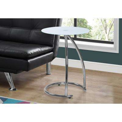 Frosted Glass and Chrome Glass Top End Table