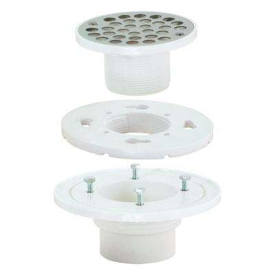 2 in. x 3 in. PVC Low Profile Floor and Shower Drain