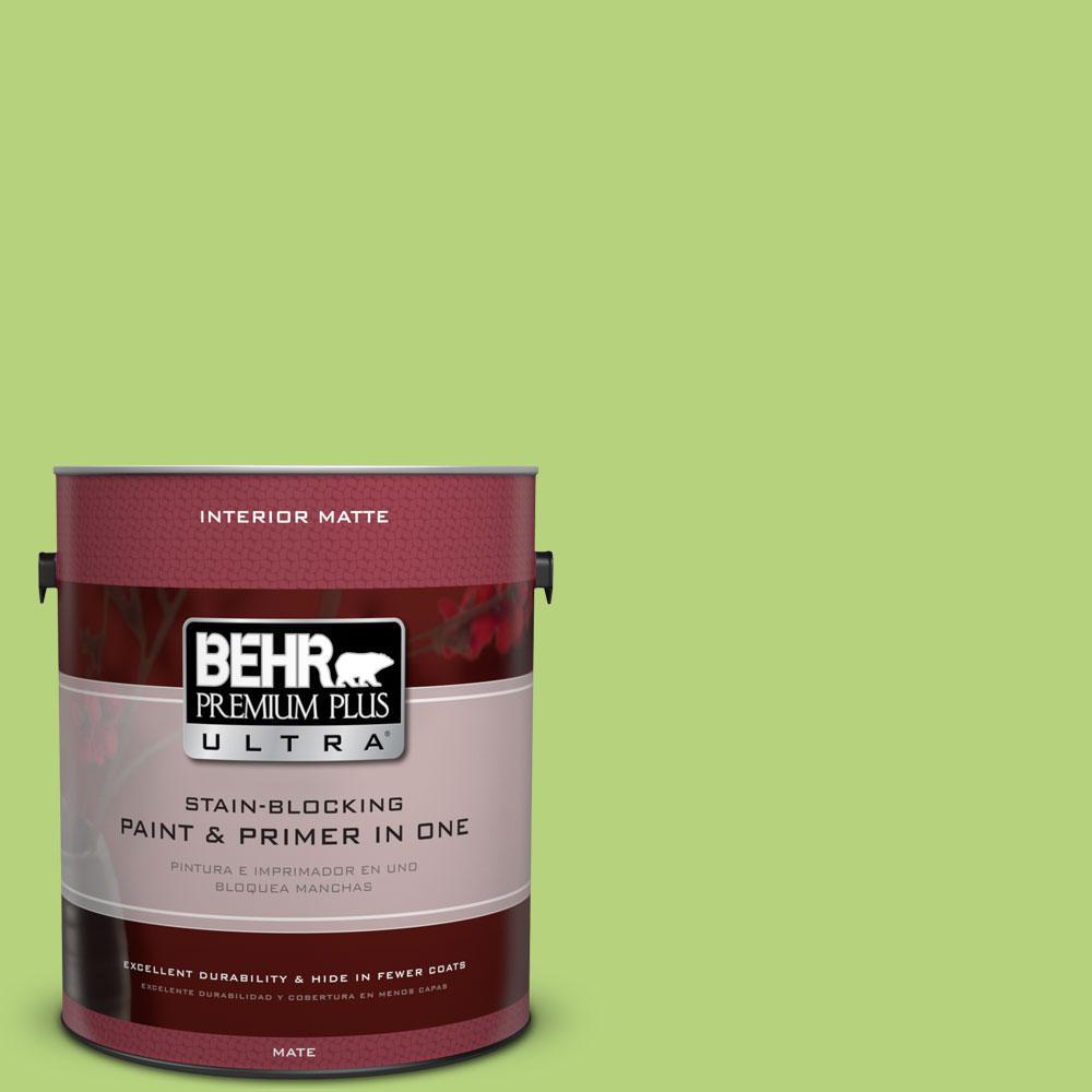 1 gal. #420B-4 Tart Apple Flat/Matte Interior Paint