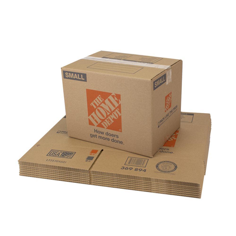 The Home Depot 28 In L X 15 In W X 16 In D Large Moving Box 10 Pack Lrgbox10 The Home Depot