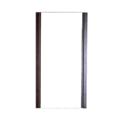 Brea 18 in. x 32 in. L-Framed Mirror in Wenge