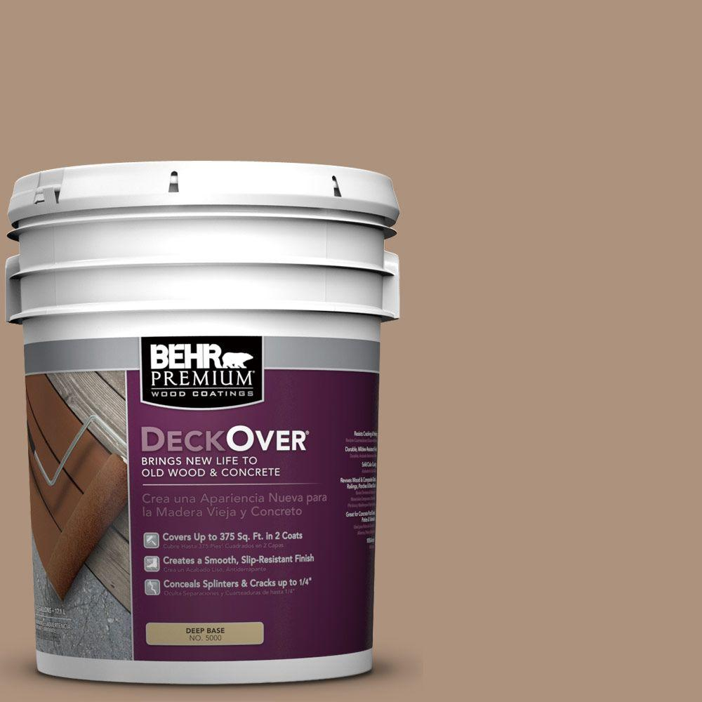 BEHR Premium DeckOver 5 gal. #SC-160 Rose Beige Wood and Concrete Coating