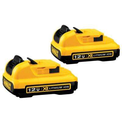 12-Volt MAX XR Lithium-Ion Battery Pack 2.0Ah (2-Pack)