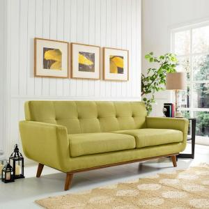Engage Wheatgrass Upholstered Fabric Loveseat