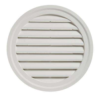 22 in. White Round Gable Vent