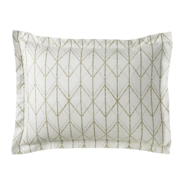 The Company Store Dotted Geo Organic Cotton Percale Standard Sham