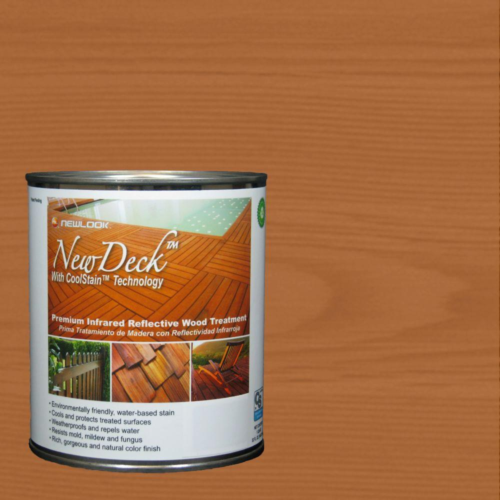 NewDeck 1 qt. Water-Based Golden Cedar Infrared Reflective Wood Stain