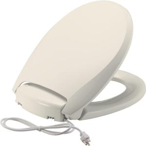 CHURCH Radiance Heated Round Closed Front Toilet Seat in Biscuit by CHURCH
