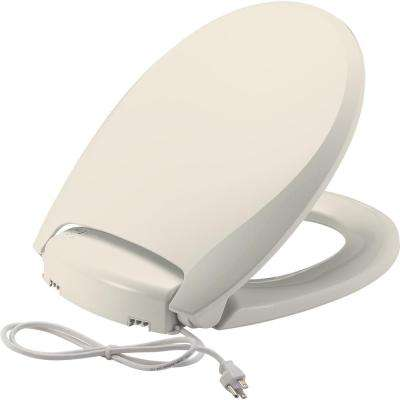 Radiance Heated Round Closed Front Toilet Seat in Biscuit