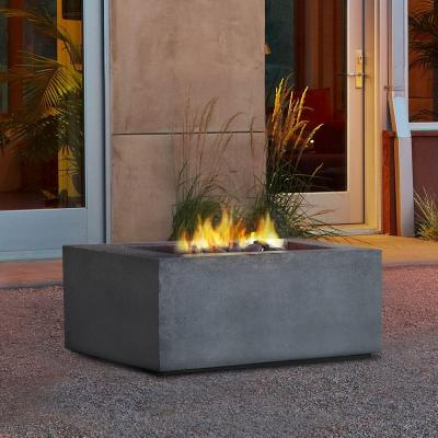 Baltic 36 in. Square Natural Gas Outdoor Fire Pit in Kodiak Brown
