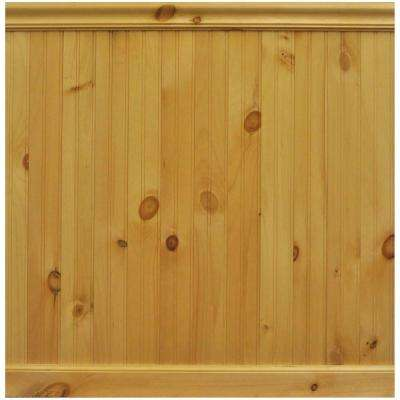8 lin. ft. North America Knotty Pine Tongue and Groove Wainscot Paneling