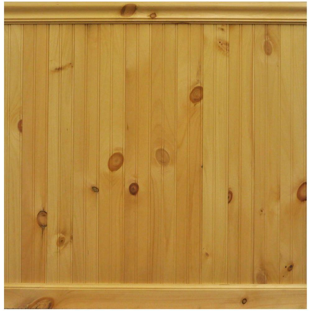 House Of Fara 8 Lin Ft North America Knotty Pine Tongue And Groove Wainscot Paneling