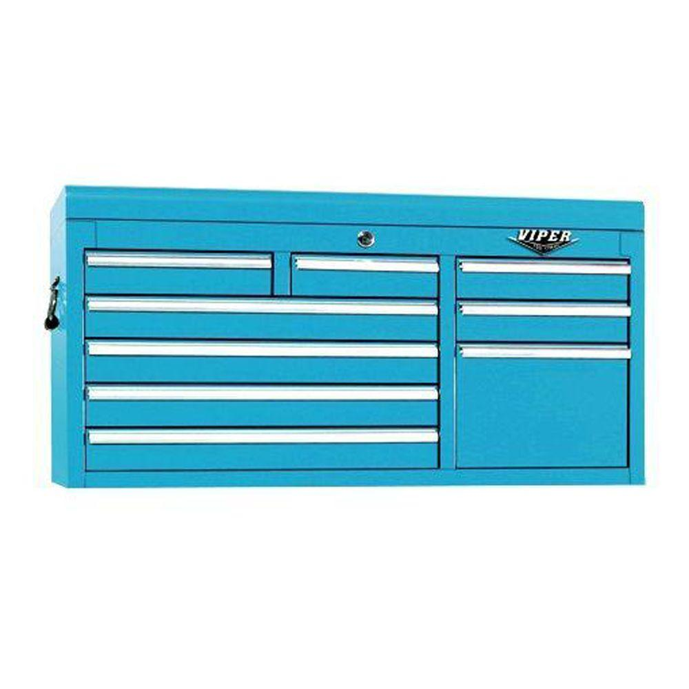 Viper Tool Storage 41 in. 9-Drawer Chest, Teal