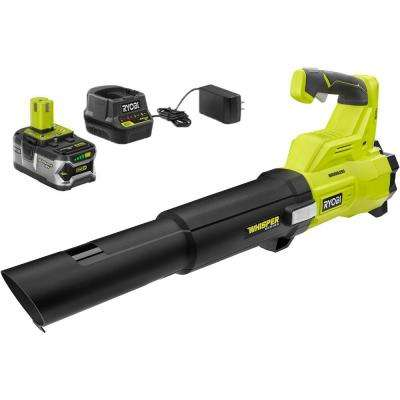 110 MPH 410 CFM 18-Volt ONE+ Brushless Lithium-Ion Cordless Variable-Speed Jet Fan 4Ah Battery Blower & Charger Included