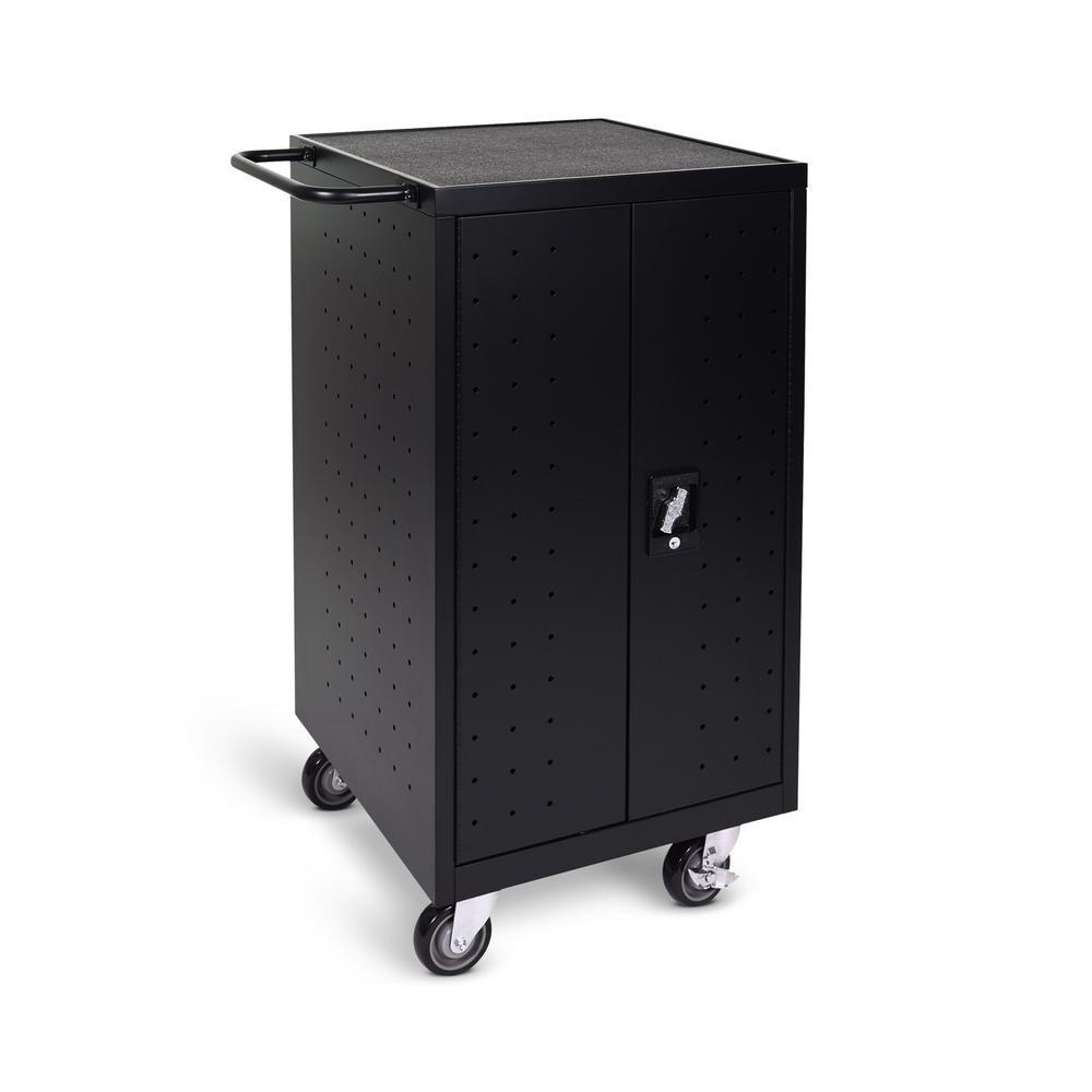 All Steel Mobile Charging Locker for 18 Laptops/Chromebooks in Black