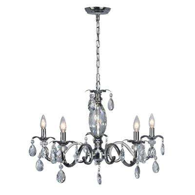 5-Light Clara Chrome Chandelier