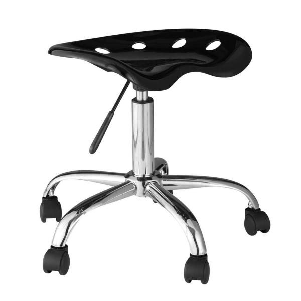 OneSpace Black Computer Task Chair with Tractor Seat