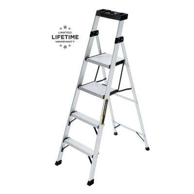 5.5 ft. Aluminum Hybrid Ladder with 250 lb. Load Capacity Type I Duty Rating