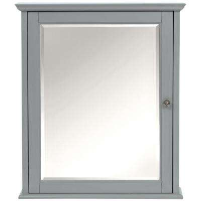 Hamilton 27 in. H Mirrored Cabinet in Grey