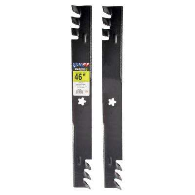 46 in. Commercial Mulching Mower Blade Set for Craftsman, Husqvarna, Poulan (2-Pack)
