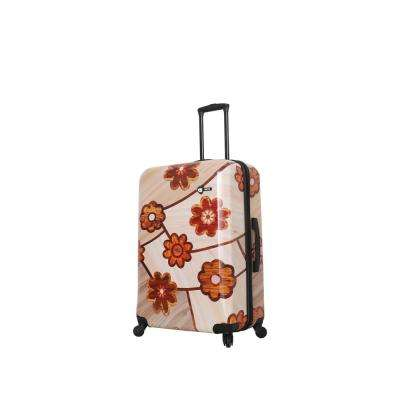 Ricci 28 in. Collage Flowers Spinner Suitcase