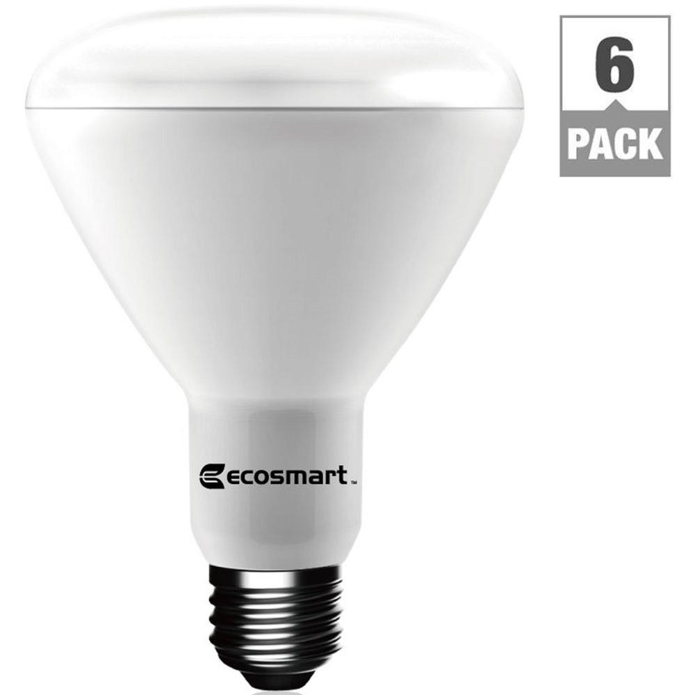 ecosmart 65 watt equivalent br30 dimmable led light bulb bright white 6 pack 1003014903 the. Black Bedroom Furniture Sets. Home Design Ideas