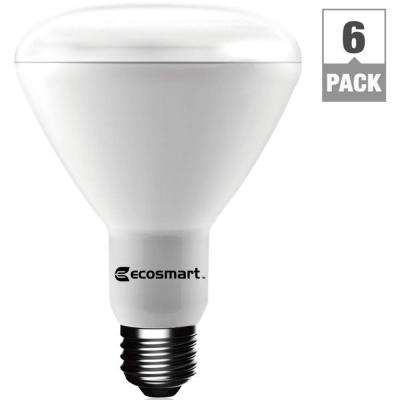 65-Watt Equivalent BR30 Dimmable LED Light Bulb, Bright White (6-Pack)