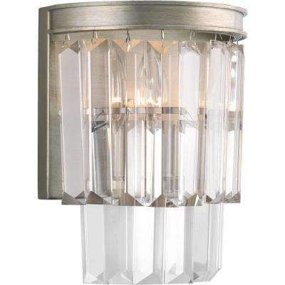 Glimmer Collection 2-Light Silver Ridge Wall Sconce