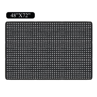 Heavy Duty Checkered 48 in. x 72 in. Multi-utility Commercial/Residential Mat with Drainage Holes