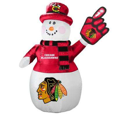 7 ft. Chicago Blackhawks Inflatable Snowman