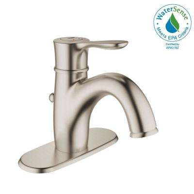 Parkfield Single Hole Single-Handle 1.2 GPM Bathroom Faucet with Escutcheon in Brushed Nickel InfinityFinish